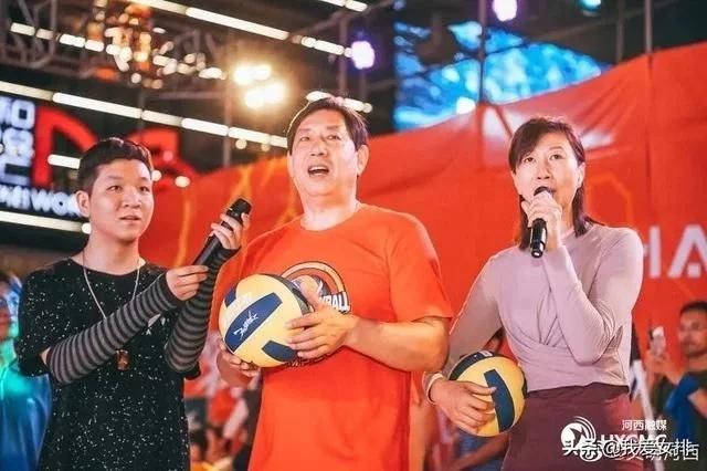 天津女排出席体育嘉年华活动,进行排球推广